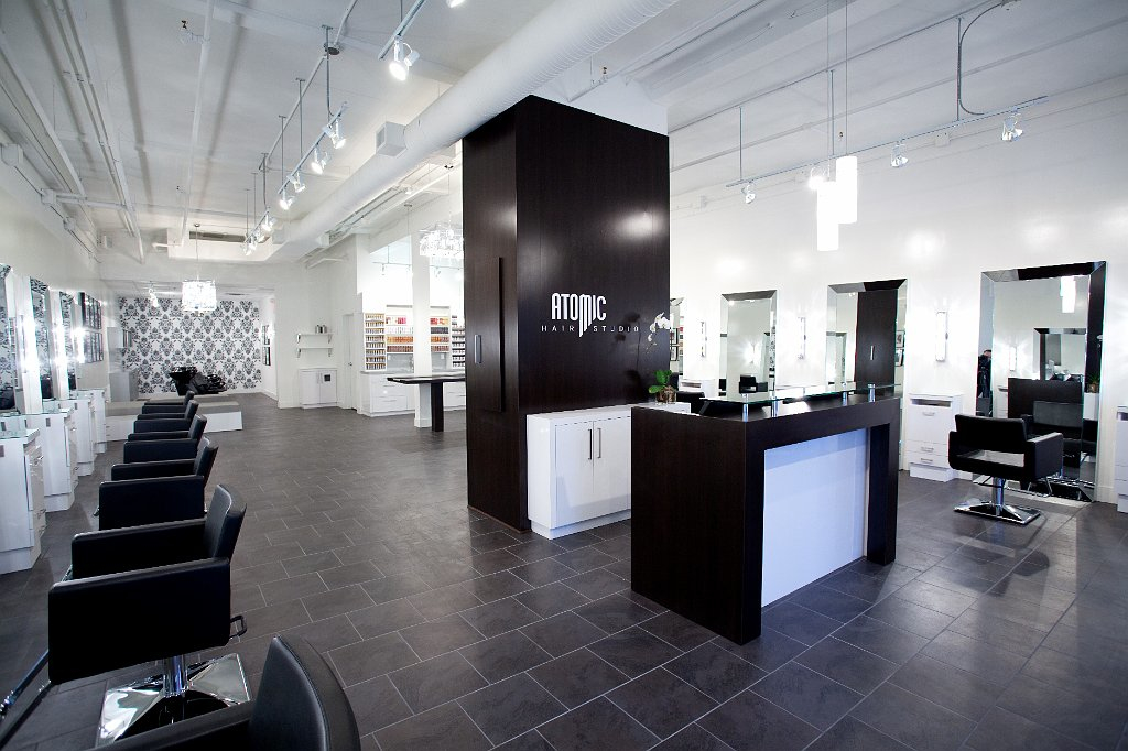 Atomic Hair Studio Interior