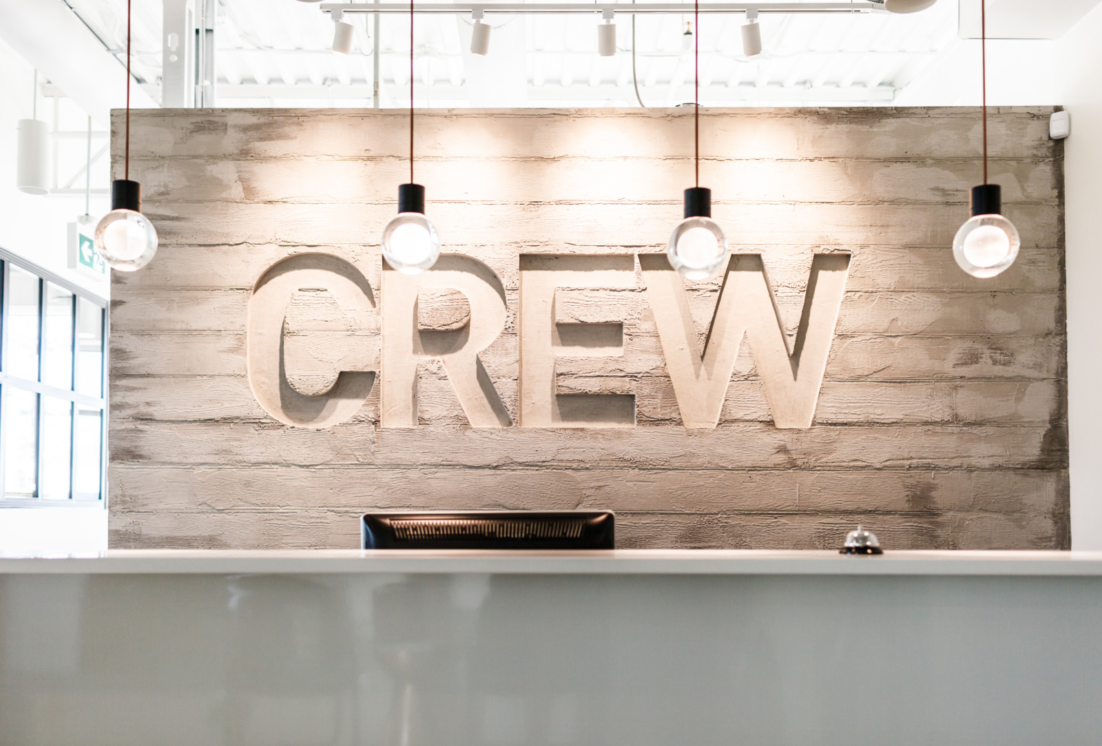 CREW interior signage