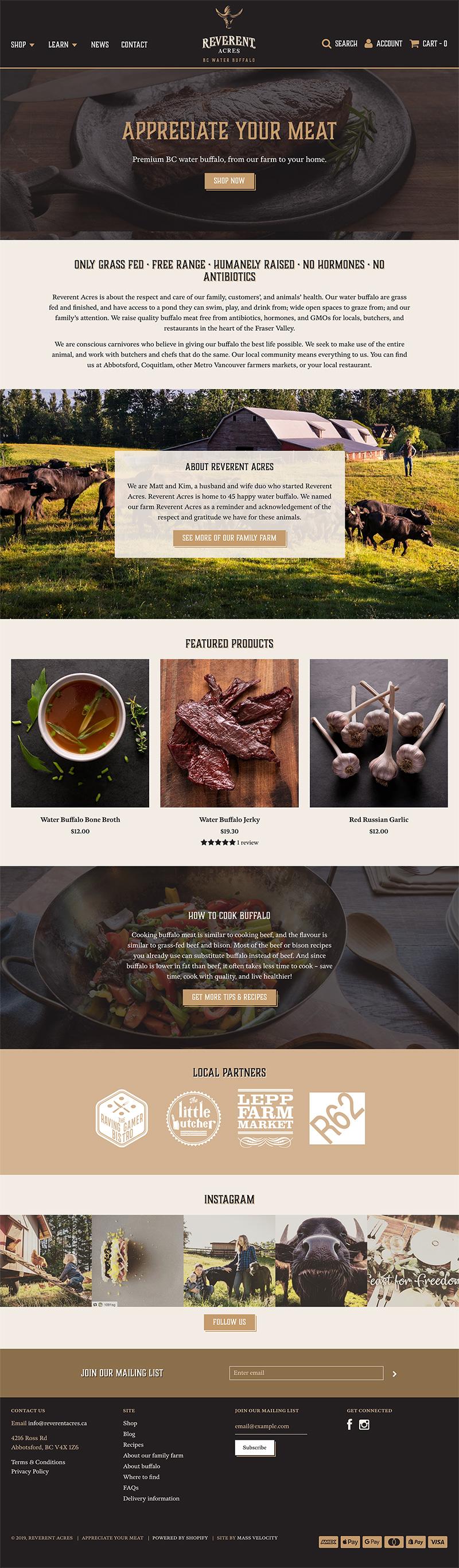 Reverent Acres Website